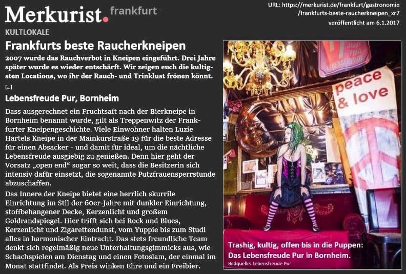 Beliebteste Raucherkneipen in Frankfurt